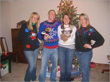 time out ugly sweater contest
