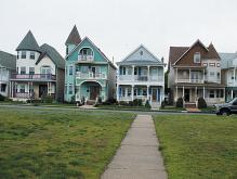 Victorian homes in Ocean Grove, NJ