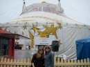 Outside the Big Apple Circus Tent